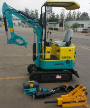 0.8t 1.2t 1.5t Mini excavator price for XN08 for sale