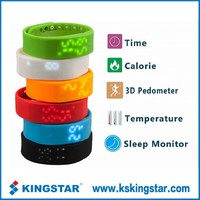 LED screen bluetooth silicone wristband smart watch with 3D USB port