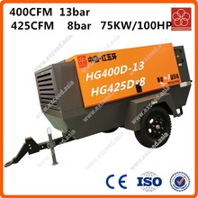 100hp 75kw electric air compressors for mining HG400D-13 HG425D-8