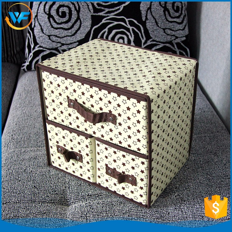 China Black Decoration Non Woven Box Storage Tote On Sale