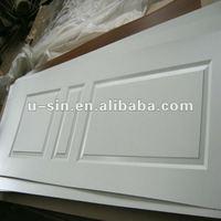 3 square panels white melamine doorskin