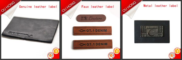 Multiple Layer Colorful Synthetic Leather Patch Tag for Jeans