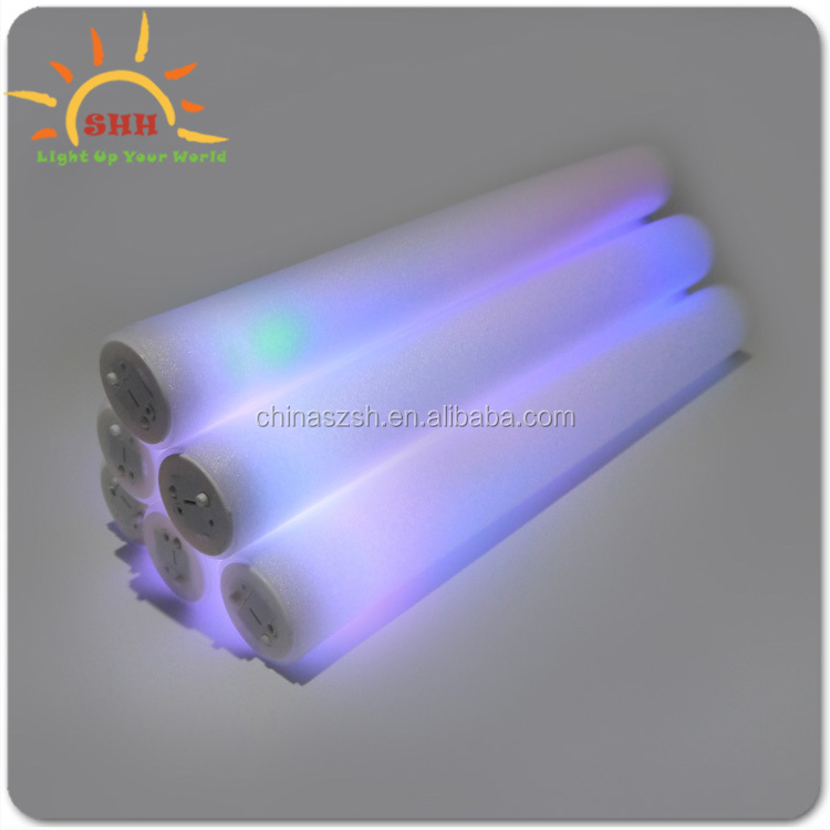 sound activated eco friendly foam led glowing sticks for nightclubs, concerts