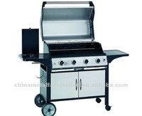 Economical Eco-friendly Gas Barbecue with Wheels
