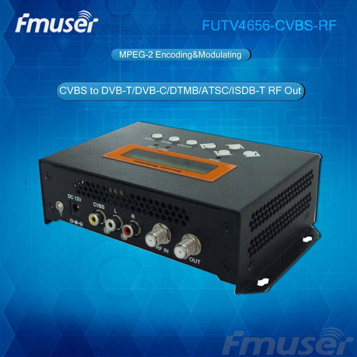 FUTV4656C mpeg2 Distribute Video Over Coax Cable (Tuner,HDMI,YPbPr/CVBS/S-Video in; RF out) with USB Record/Save/Playback hch