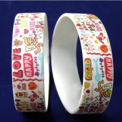 Custom high definition digital printing silicone wrsitbands