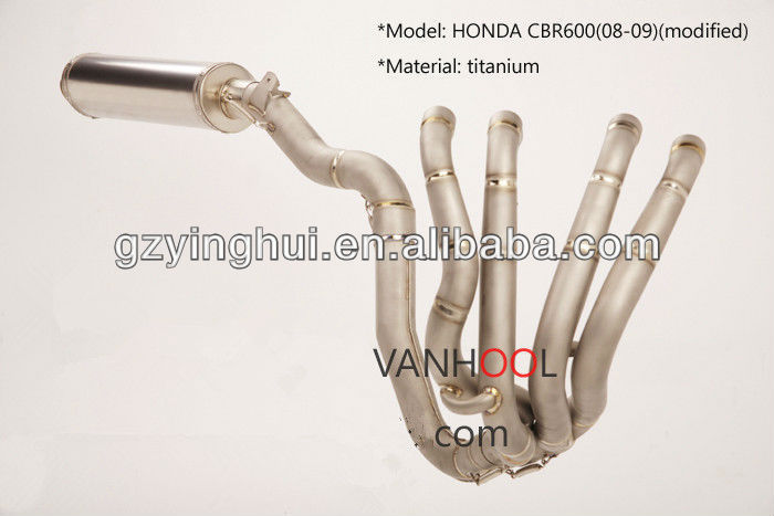 titanium motorcycle exhaust system