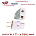 Asia 2pin plug and socket connecting outlet device