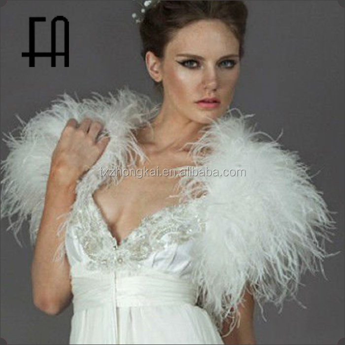 Factory direct wholesale price bride fashion feather shawl