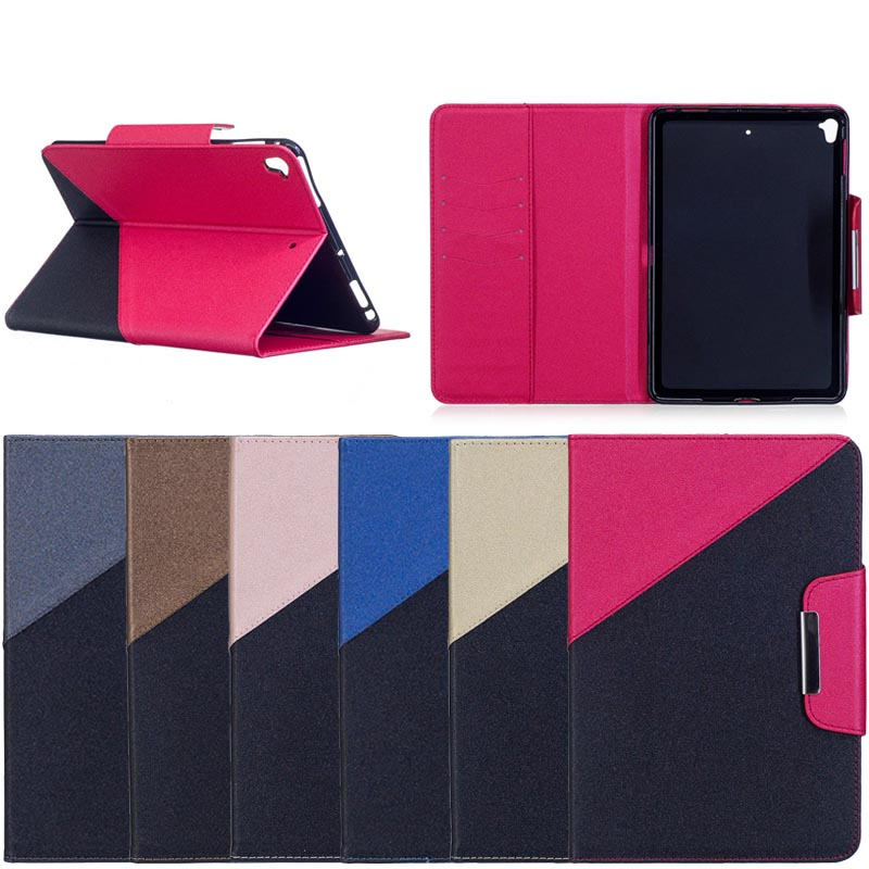 Unique Design Dual Color Leather Tablet Case for iPad Mini 5, 6 Colors Available