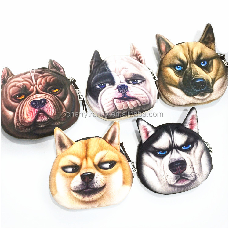 New Coin Purses Cute Animal Dog Shaped Purse For Girls Women