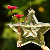 clear star hanging vases wholesale clear glass vases