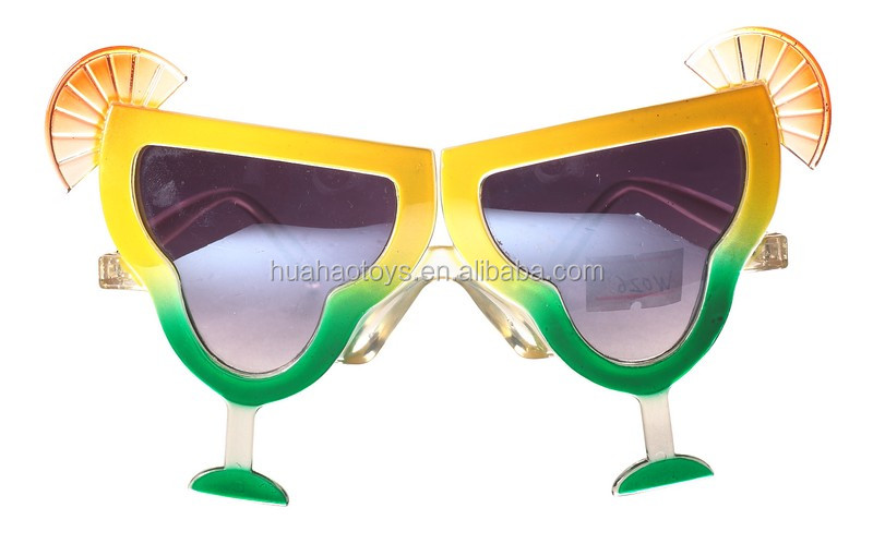 Fancy Handmade Plastic Drink Sunglasses For Sale Party Favor