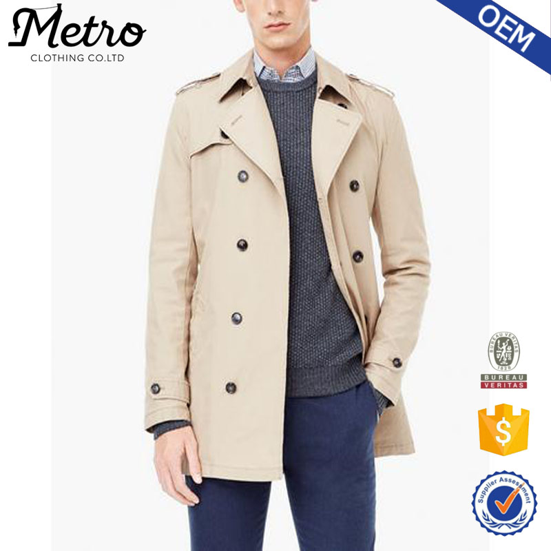 2016 Most Popular Thin Men Beige Trench Coat wholesale