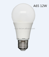 High lumen 1000lm 12W A65 E26/E27/B22 led bulb lamp AC220-240V Ra>80 with 270 degree viewing angle