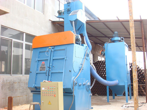 tumble belt type shot blasting machine price in qingdao