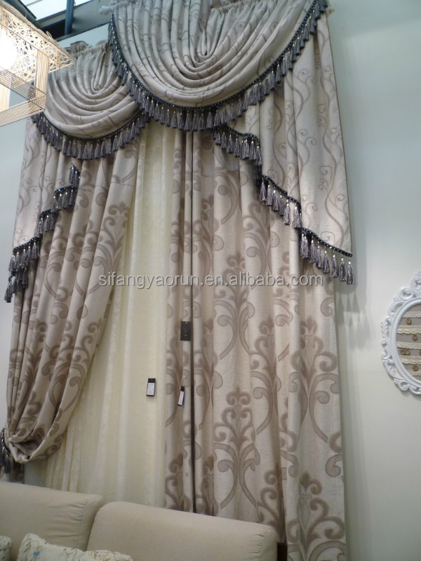 ready made classic dyed single color cheap decorative string curtain