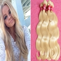 Juancheng factory wholesale blonde color human hair weaving top quality body wave brazilian hair