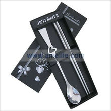 A05064 Stainless Steel Chopsticks Heart Spoon Wedding Party Favor