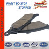 Good Quality Motorcycle Brake Pad for CB 600 HORNET/VT 600 SHADOW/CBR 600 F3/CBR 1000F/VT 1100 SHADOW;motorcycle disc brake pad