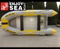 3.2m light grey and yellow inflatable plastic fishing boats electric spped boat ASD-320 for sale!