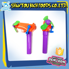 promotional fancy sweets mini toy fan candy with gun