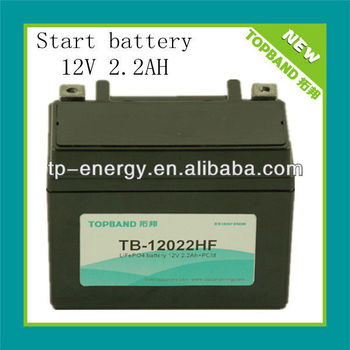 12V 2.2Ah motorcycle jump start battery China Suppllier