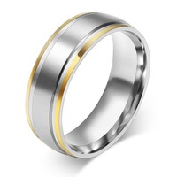 316l stainless steel rings for men and women 8mm sex ring gold plating ring