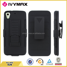 Armor shockproof waterproof cell phone case for HTC 626 belt clip case