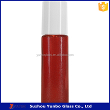 2015 Wholesale 10 ml Ruby Red Empty Roll on Bottle with White Cap