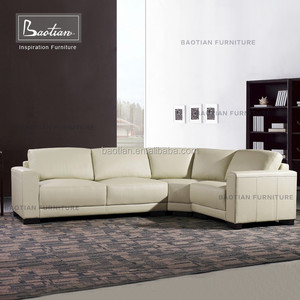 modern home furniture small leather fabric sectional sofa