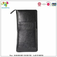 Hot new products for 2015 men's leather wholesale trvel document holder wallet