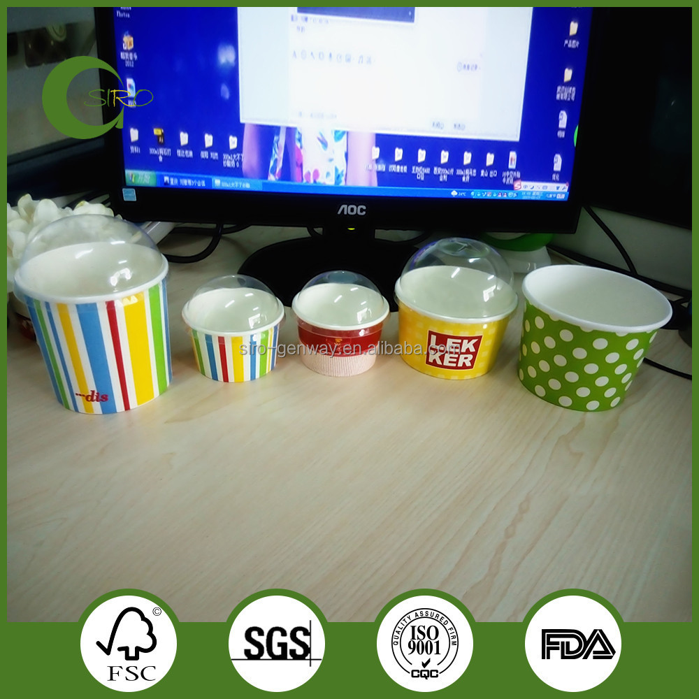 Wholesale ice cream paper cups,custom printed paper cups