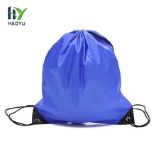 Supplier wholesale price fashion cheap waterproof polyester double drawstring bag