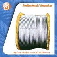 6*37+FC 6*37+IWS hot dipped galvanized steel wire rope for crane purpose