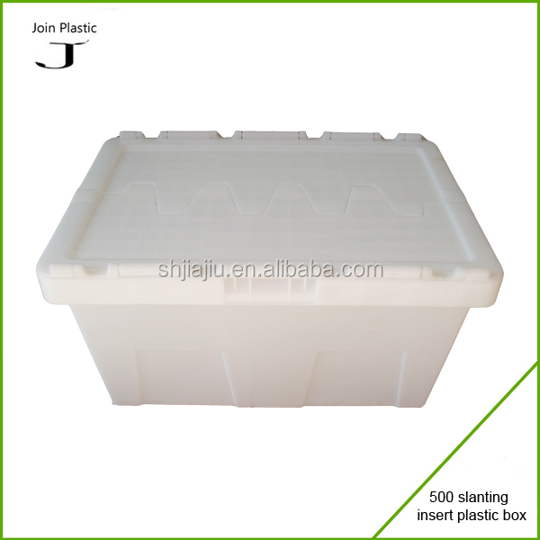 white color Recycle Bins nestable boxes with water and grease proof feature