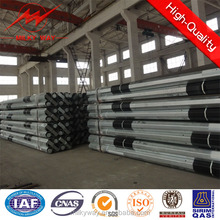 12m hot dip galvanization,double circuit steel power pole for electrical transmission