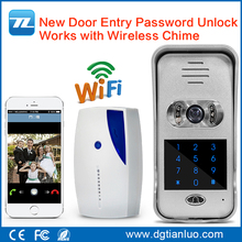 Mobile phone two way intercom wireless WIFI IP Door Bell camera wifi video door phone