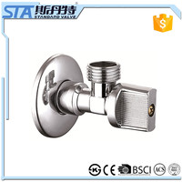 "ART.3001 One Pair High Quality New 1/2"" Male Brass Kitchen Angle Stop Valve Chrome Plated Finish Filling Valves Bathroom Part"