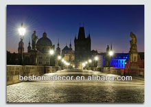 Picture of View of city and river Vltava in Prague funny pictures with black frames, peinture, antique religious paintings