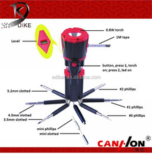 Ningbo Dike 8 in one screwdriver with tape QC-175B