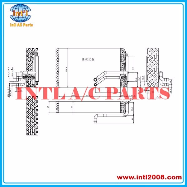 Evaporator for Volvo Truck NH / FH 2005> 2014