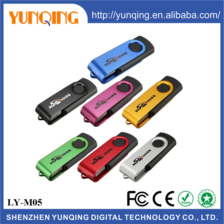 High speed swivel custom pendrive usb flash drive disk