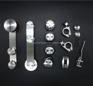 stainless steel frameless shower room hardware glass doors sliding