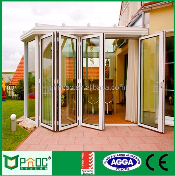 Aluminum Alloy Frame Material and Open Style Folding Exterior French Doors PNOC0032BFD
