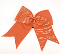 Sparkle cheer bows cheerleading bows with rhinestone Zebra Strip