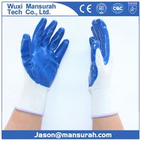 Bi-color safety glove hand industrial latex wholesale gloves/china-wholesale gloves