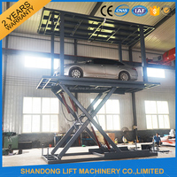 portable hydraulic scissor lift for two cars