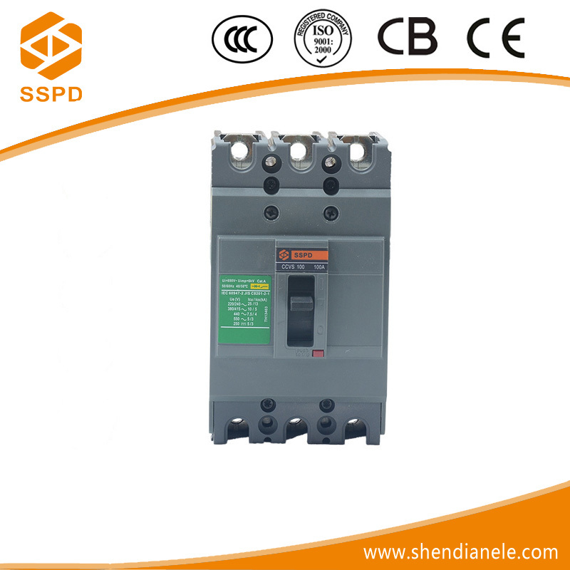 china electrical 100amp mccb molded case circuit breaker