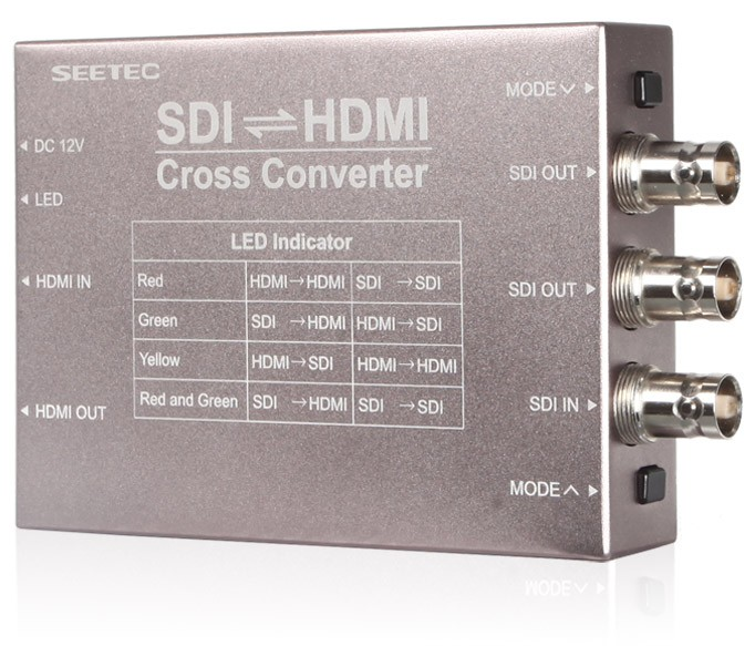 SDI HDMI cross conversion device metal case duarable SEETEC digital video converter